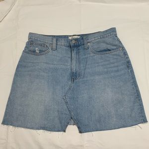Madewell cut-off jean skirt